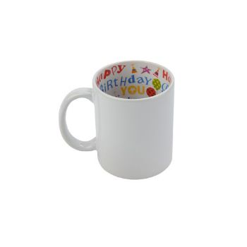 Personalised White Mug Birthday